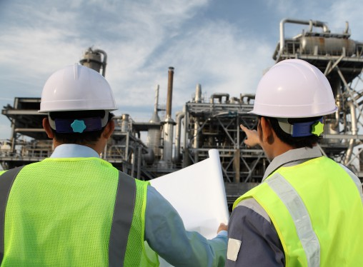 two engineer of oil refinery
